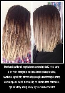 Domowe prostowanie włosów b...
