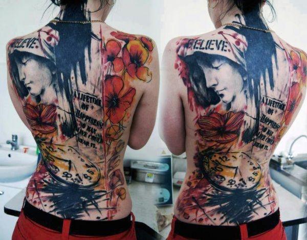 Tatuaże Damskie Na Całe Plecy Na Tatuaże Zszywkapl