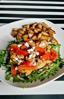 Domowy gyros z papryką i balsamicznymi ziemniakami :) Zapraszam na bloga!