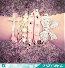 zestaw bransolet różowy
