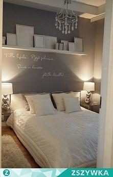 sypialnia szaro-białą