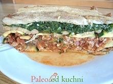 Boczkowe paleo lasagne - bez glutenu, zbóż i nabiału. Kliknij zdjęcie po przepis.