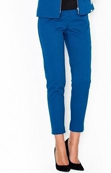 Katrus K300 spodnie niebieskie Eleganckie spodnie, nogawki zwężane ku dołowi,...