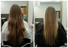 Przed i po.  Moja pierwsza w życiu metamorfoza włosów :)