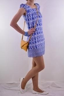 niebieska sukienka OASIS