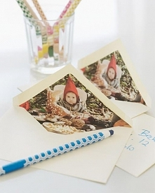 Photo-Lined Holiday Envelopes  You will need: photocopies of motif envelopes ...