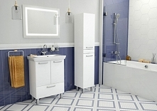 #białe meble łazienkowe capri