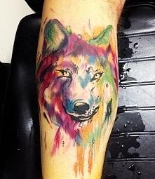 Wilczek ^^ Metodą watercolor tattoo