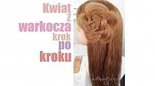 Kwiat z włosów- fryzura krok po kroku