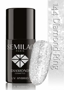 Lakier hybrydowy Semilac 144 Diamond Ring - 7 ml  Imitacja śniegu na naszych paznokciach :))