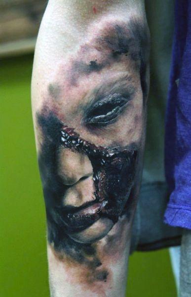 Tatuaże 3d Na Przedramieniu Na Tatuaże Zszywkapl