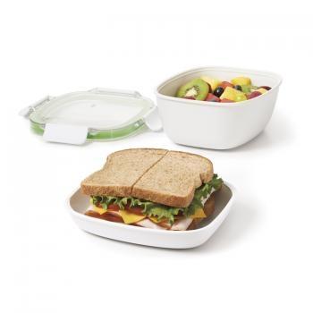 Pojemnik na obiad dwupoziomowy ON-THE-GO (3 elementy)