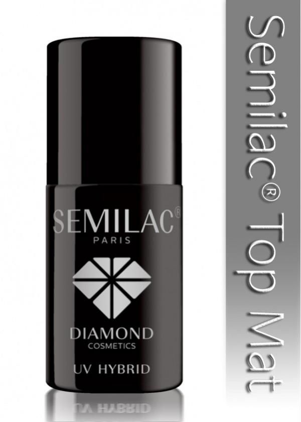 Matowy TOP do lakieru hybrydowego SEMILAC®. Utrwala kolor i nadaje matowe wykończenie manicure.  W celu osiągnięcia idealnych efektów, rekomendujemy nałożenie szczególnie cienkich warstw produktu.