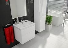 Białe meble łazienkowe Zolo.