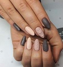Sweterkowe zimowe paznokcie