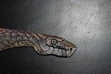 wąż malowany na ręce :)