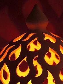 Lampion ceramiczny, ręcznie toczony na kole garncarskim, gliniany lampion, rę...