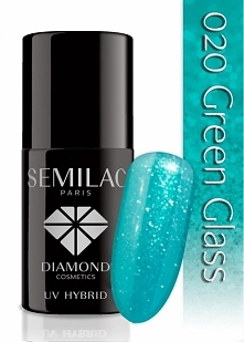 Lakier hybrydowy Semilac 020 Green Glass.. Piękny i bardzo zimowy odcień! #se...