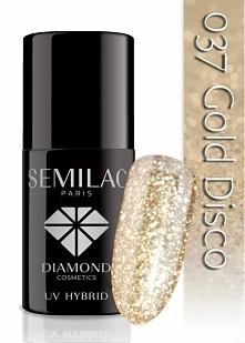 Lakier hybrydowy Semilac 037 Gold Disco