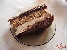 tort kajmakowo orzechowy z kremem kawowym