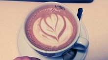 latte art - moje <3
