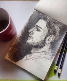 Rysunek przy dobrej kawie to podstawa! Zapraszam do siebie na bloga i fb,Instagram ,like i obserwowania mile widziane :D linki w komentarzu pod rysunkiem
