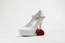 Białe buty ślubne, obcas 11cm  Znajdziesz na unibut.net