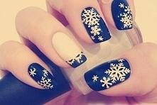 zawsze modny zimowy motyw płatków śniegu ale wykonany w nietypowy sposób :) k...
