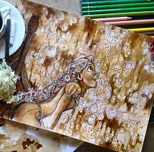 Stunning Coffee Painting by Spanish Artist Nuriamarq