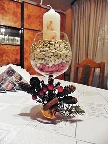 stojak stroik na świecę  wigilijną