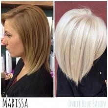 Najmodniejsze odcienie włosów - platynowy blond! > fryzury