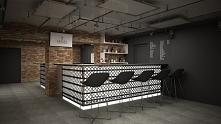 Projekt kawiarni z galerią