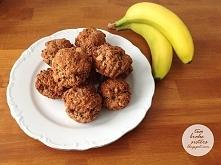 zdrowe muffinki bananowe z masłem orzechowym