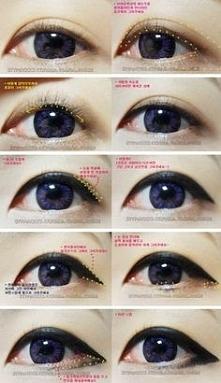 eyeliner inaczej <3