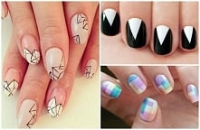 Geometryczny manicure :)