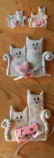 Kociaki z masy solnej inspirowane inną zszywką ;)