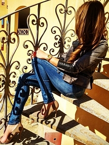 Kurtka damska wiosna 2016 jeans+skóra model #113 fashionavenue.pl