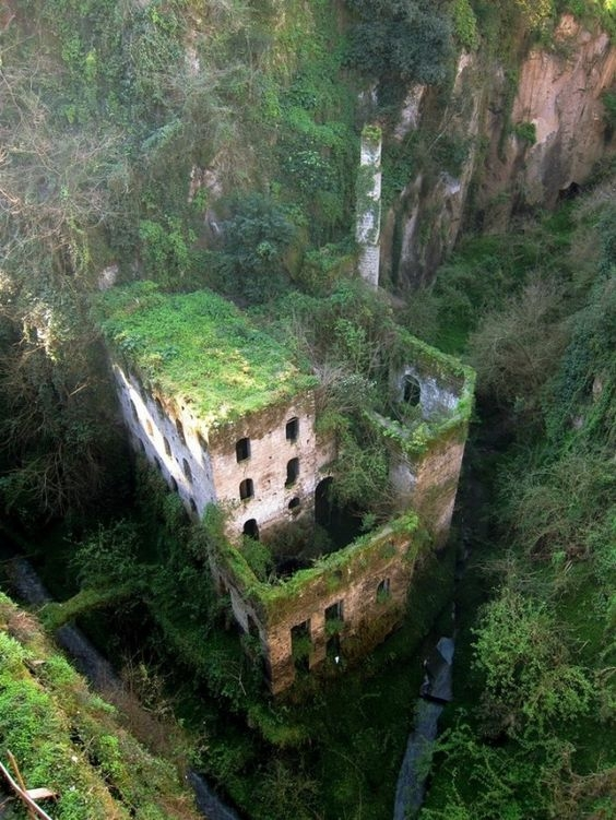 Abandoned Mill from 1866, Sorento, Italy - 34 Abandoned But Beautiful Places