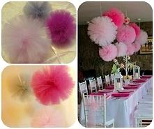 Pompony dekoracje weselne fb/perfekcyjnakartka