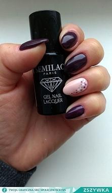 Piękny manicure wykonany lakierem Semilac :)