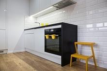 Kuchnia w bieli i czerni wykonana przez MS-meble  #design #homedesign #homede...