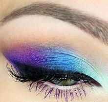 purple& smokey eye blue