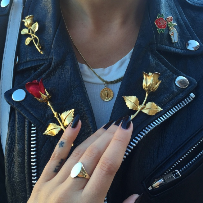 ••leather&gold