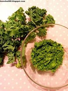 Zdrowe, pyszne, zielone pesto z jarmużu, do ryb i do kanapek! :)