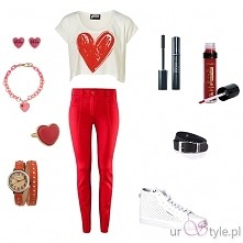 W Walentynki spodnie czy sukienka?  #czerwień #stylizacja na #walentynki