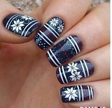 Pazurki w zimowe wzory :)