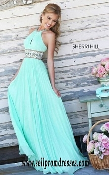 Light Green Sherri Hill 11251 Chiffon Prom Dress Online