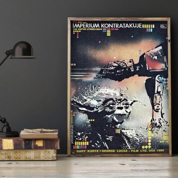 Polski plakat z lat 80., Gwiezdne Wojny: Imperium Kontratakuje
