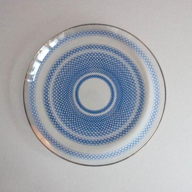 Duży talerz z delikatnego szkła
