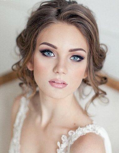 Modne podkreślające oczy makijaże ślubne > 16 propozycji